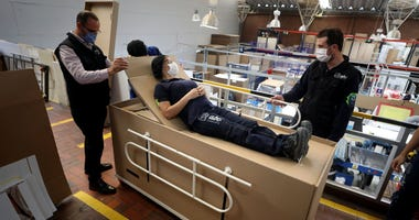 Coffin hospital beds