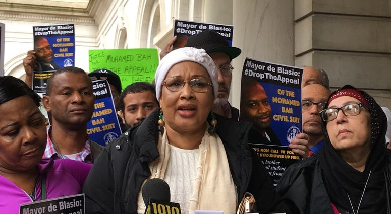 Activists and the mother of Mohamed Bah urge the city to drop a verdict appeal.