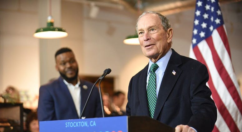 Mike Bloomberg at campaign stop