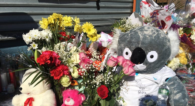 A memorial grows to Lesandro Guzman Feliz, 15, who was stabbed to death in the Bronx.