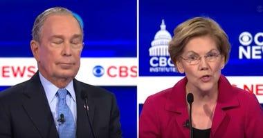 Elizabeth Warren attacks Mike Bloomberg at Democratic debate in South Carolina