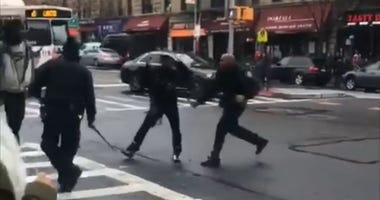 NYPD beatdown