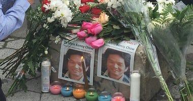 Vigil For Cab Driver Kenny Chow