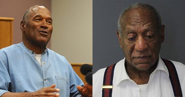 OJ Simpson (L) and Bill Cosby (R)