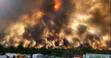 New Jersey forest fire