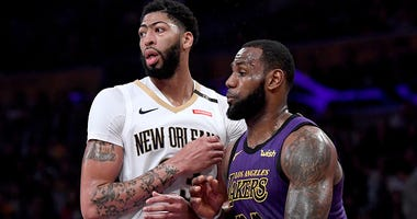 Anthony Davis LeBron James Los Angeles Lakers