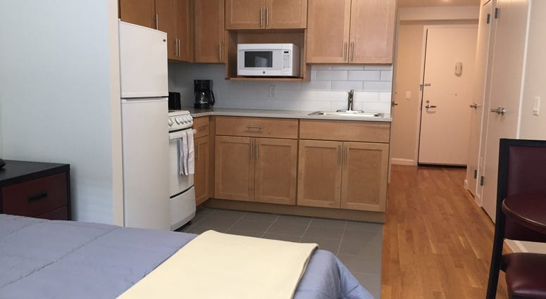 A veterans housing complex opened in Fordham Heights.