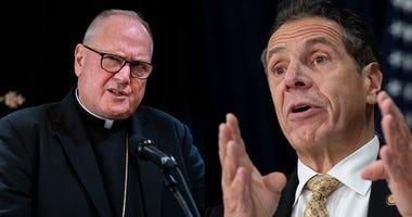 Cardinal Timothy Dolan and Gov Andrew Cuomo