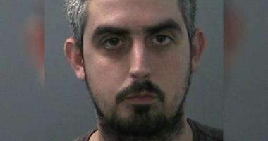Ed Foley, 29, is accused of exposing himself to a group of high school field hockey players.