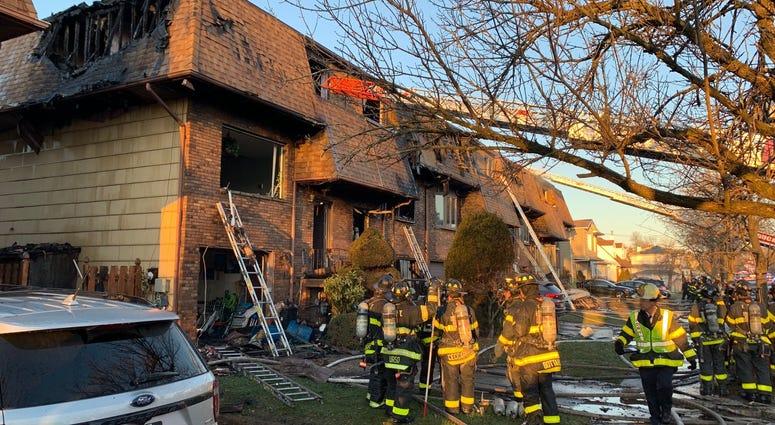 Five-alarm fire on Staten Island