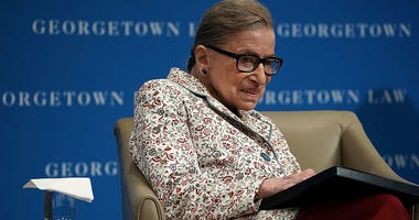 Supreme Court Justice Ruth Bader Ginsburg participates in a lecture September 26, 2018 at Georgetown University Law Center