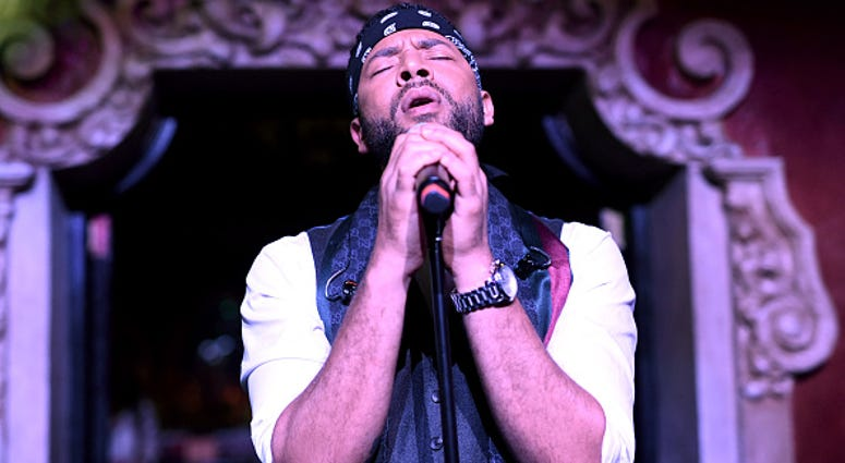 Jussie Smollett performs onstage during amfAR Dance2Cure at Bardot on December 1, 2018 in Hollywood, California.