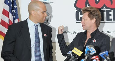 Jon Bon Jovi and Cory Booker