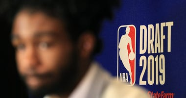 Coby White talks at the 2019 NBA Draft.