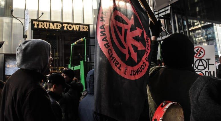 Antifa Proud Boys Trump Tower