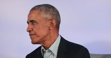 Former U.S. President Barack Obama speaks to guests at the Obama Foundation Summit on the campus of the Illinois Institute of Technology on October 29, 2019 in Chicago, Illinois.