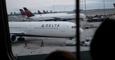A Delta airplane at JFK Airport