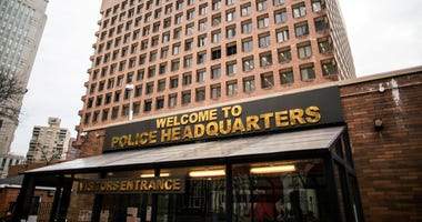 General view of One Police Plaza on March 27, 2020 in New York City.