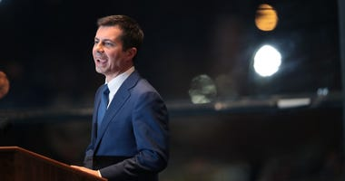 Former South Bend, Indiana Mayor Pete Buttigieg announces he is ending his campaign to be the Democratic nominee for president during a speech at the Century Center on March 01, 2020 in South Bend, Indiana.