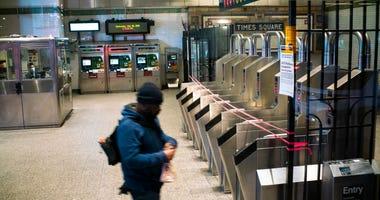 Coronavirus NYC subway
