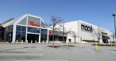 A view of the empty parking lot as the Westfield Garden State Plaza along with all New Jersey malls, is closed on March 18, 2020 in Paramus, New Jersey.