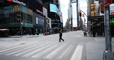 Times Square amid the coronavirus outbreak