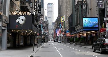 Broadway during the shutdown