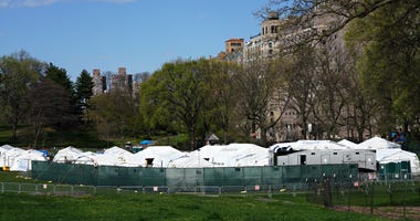 Coronavirus NYC field hospital Central Park