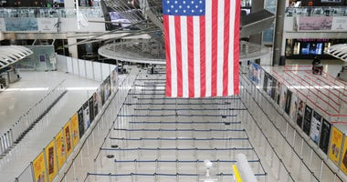 John F. Kennedy Airport (JFK) stands mostly empty due to the ongoing cutbacks in travel because of the coronavirus on April 16, 2020 in New York City.