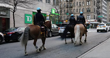 NYPD officers horseback