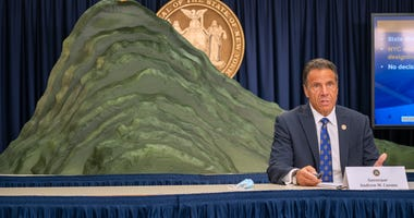 Governor Andrew Cuomo speaks during a COVID-19 briefing on July 6, 2020 in New York City.