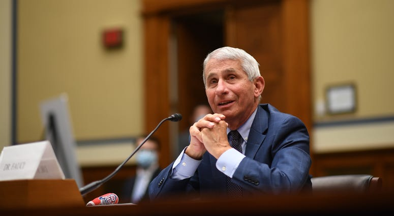 Dr. Anthony Fauci, director of the National Institute for Allergy and Infectious Diseases, testifies before a House Subcommittee on the Coronavirus Crisis hearing on July 31, 2020 in Washington, DC.