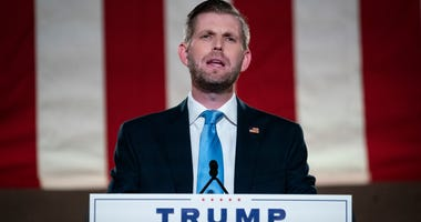 Eric Trump, son of U.S. President Donald Trump, pre-records his address to the Republican National Convention at the Mellon Auditorium on August 25, 2020 in Washington, DC.