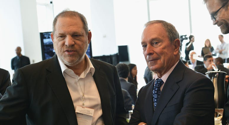 Michael Bloomberg and Harvey Weinstein