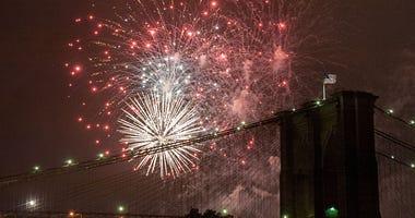 Macy's fireworks in 2016