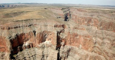 An aerial view of the Grand Canyon June 12, 2009 in Grand Canyon, Arizona.