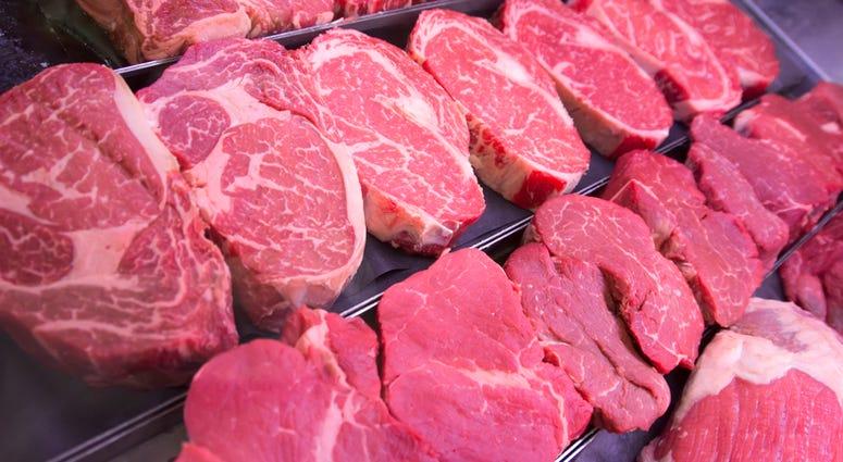 Raw steaks