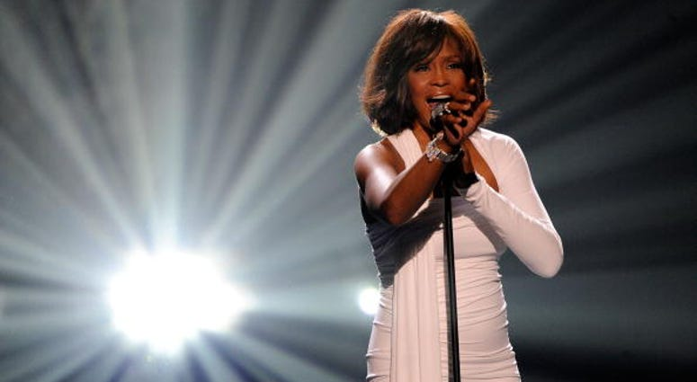 Singer Whitney Houston accepts the Winner of International - Favorite Artist Award onstage at the 2009 American Music Awards