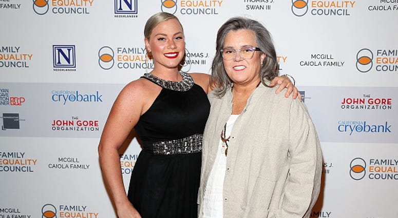 Elizabeth Rooney and Rosie O'Donnell attend Family Equality Council's 'Night At The Pier' at Pier 60