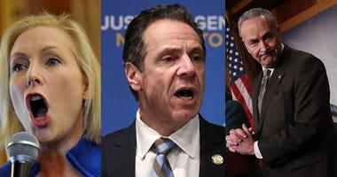 Sen. Kirsten Gillibrand, Gov. Andrew Cuomo, and Sen. Chuck Schumer