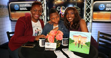 Gracie Benedith-Cane and her son Wani with Sharon Barnes-Waters