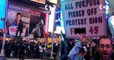 Iran protest Times Square