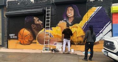 Kobe and Gianna Bryant Mural in Brooklyn
