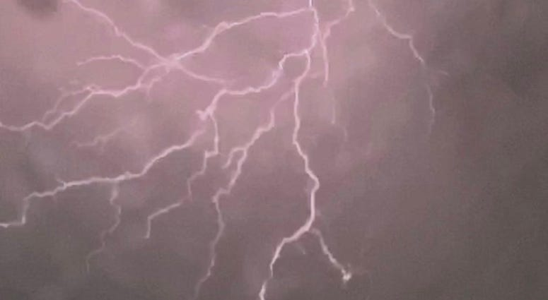 Long Island lightning storm