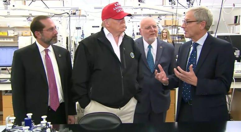 Image result for trump visits CDC