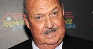 Gene Okerlund attends the WWE screening of 'Legends' House' at Smith & Wollensky on April 15, 2014 in New York City.