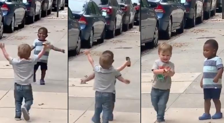 Boys hug viral video