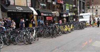 The city is cracking down on bike rental businesses in Midtown.