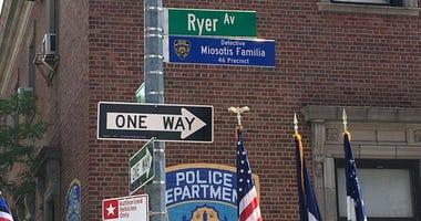 Street outside the 46th Precinct in the Bronx renamed for slain officer Miosotis Familia.