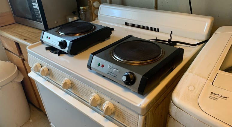 Hot plates given to residents of NYCHA Marlboro Houses in Brooklyn
